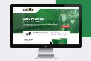 strony www landing pages z maszynami rolniczymi