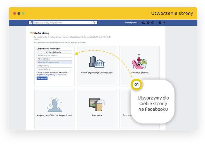 tworzenie strony nafacebook