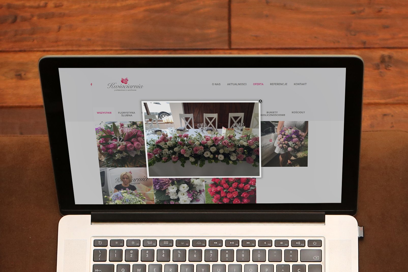 strony internetowe dla kwiaciarni