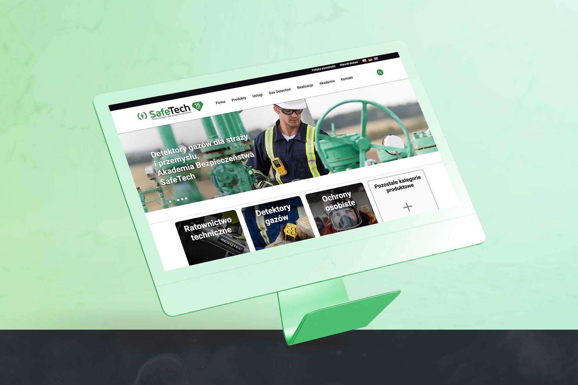 strona produktowa safetech