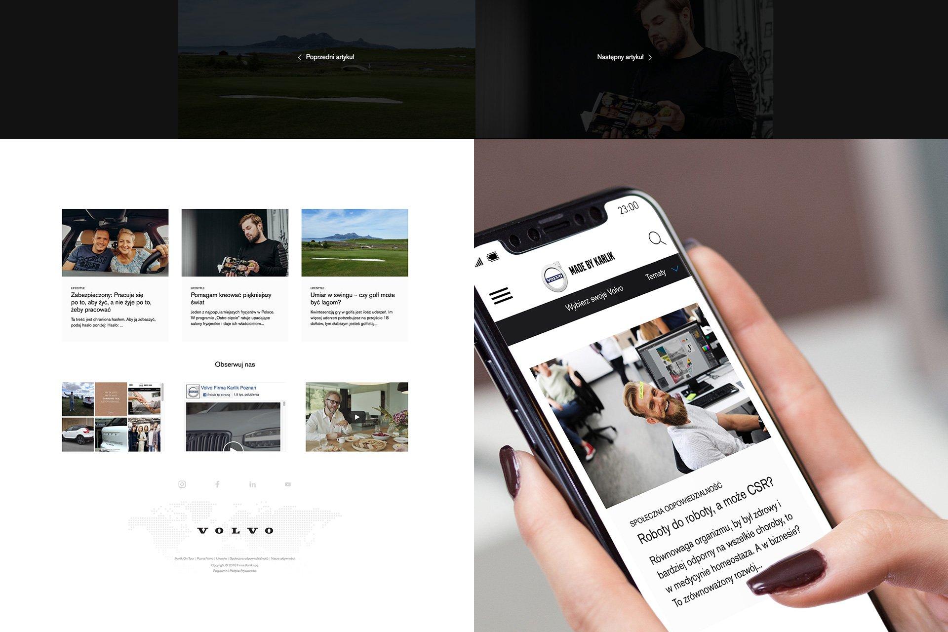 strona www dla volvo firma karlik