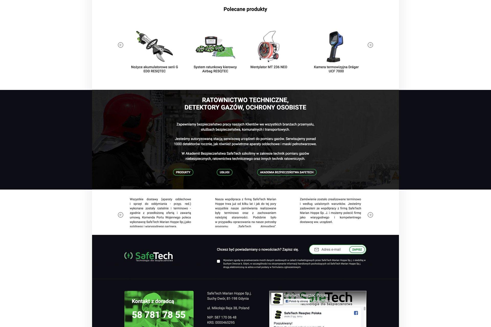 serwis z produktami www