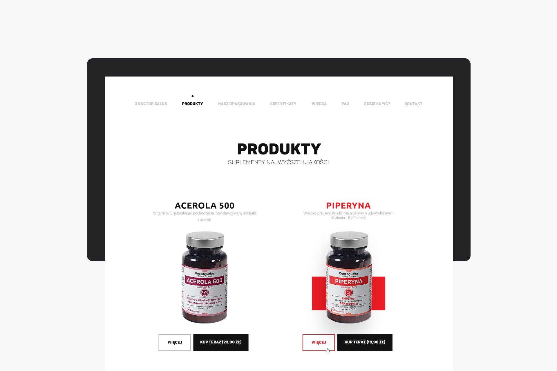 strona produktowa projekt