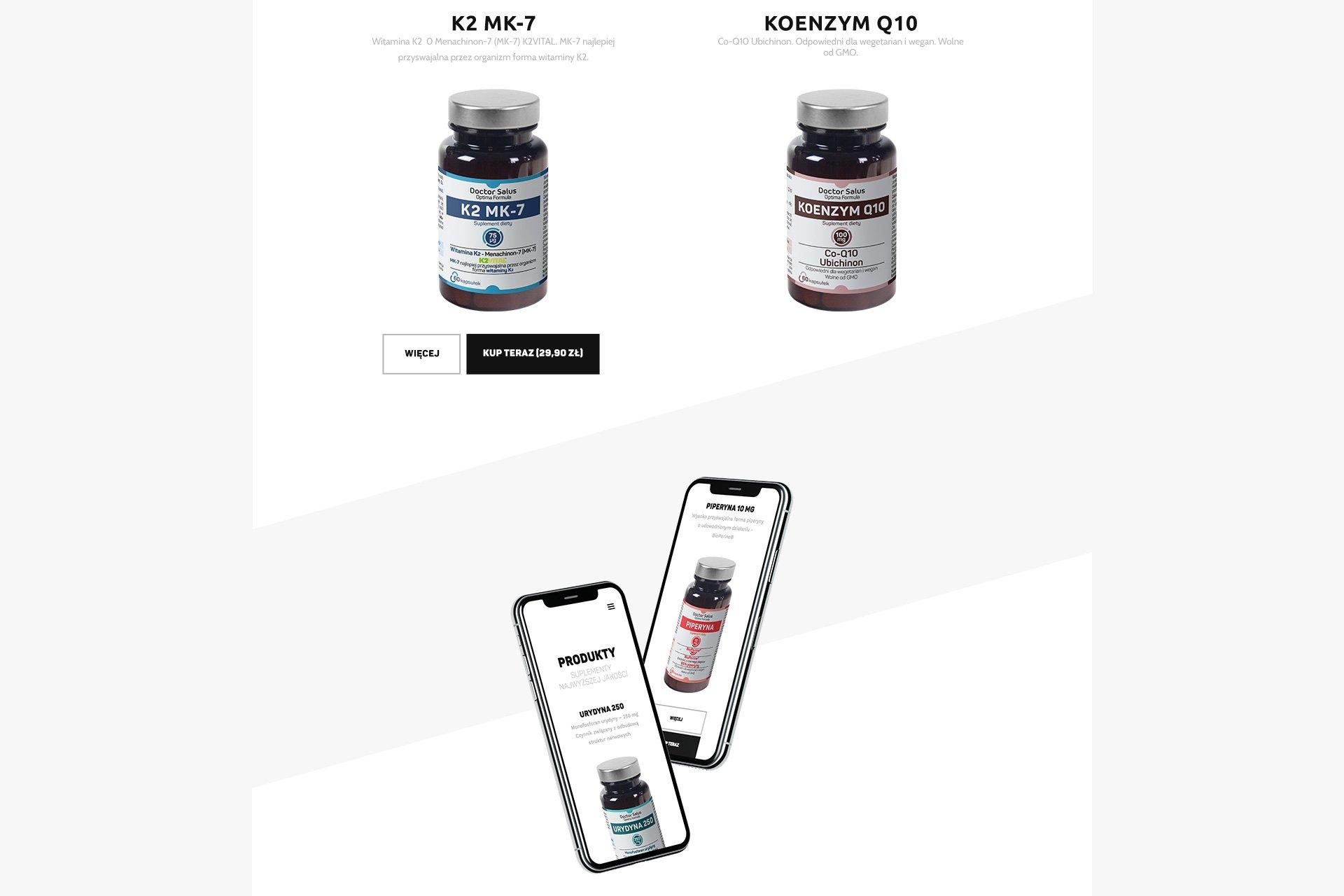 strony internetowe produktowe