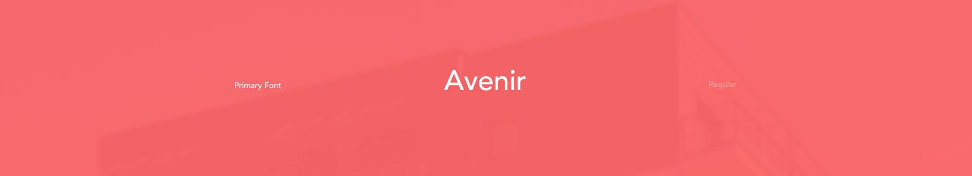czcionka font avenir przy stronie lokum inwest