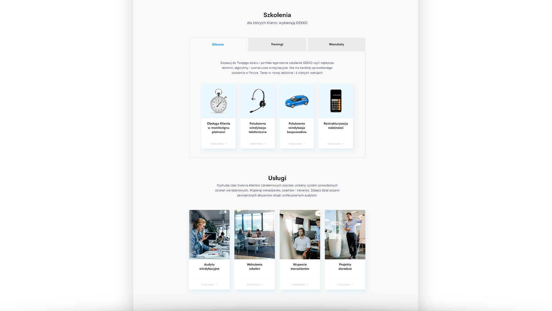 projekty stron www przykład GEKKO