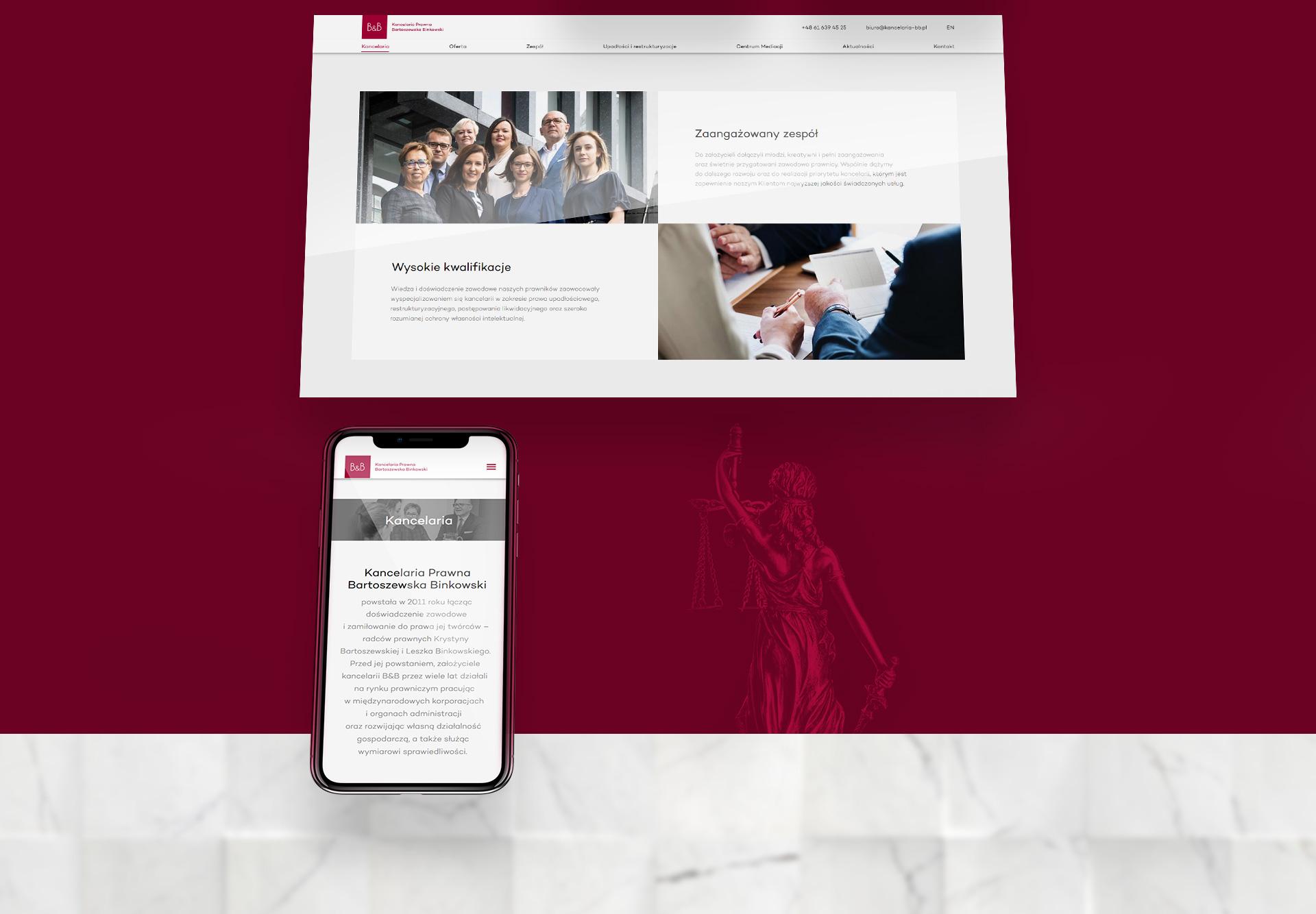 projekty stron www adwokatów kancelarii prawnych poznań